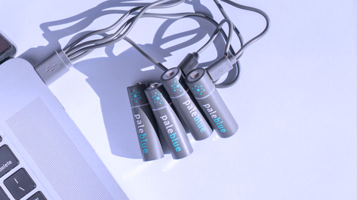 PaleBlue USB Rechargeable Batteries